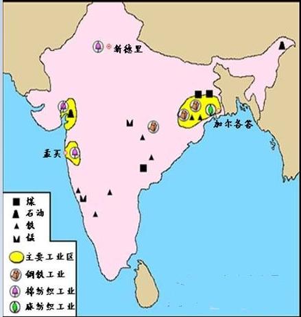 印度工业分布特点【相关词_ 印度工业分布图】